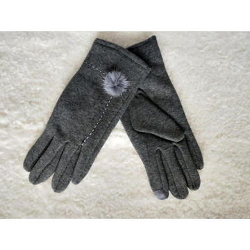 Customized winter warm sewing women glove