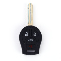 Ntsane e nyane ea Nissan 4 Button Car Key Silicone Jacket