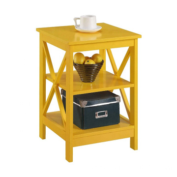 Yellow Wood Bedside End table