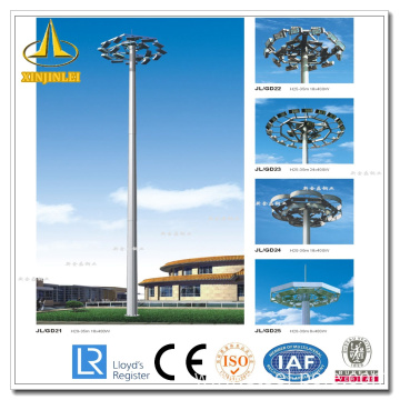 Good Quality for High Mast pole for stadium Steel Air Port High Mast Lighting Pole supply to Vanuatu Supplier