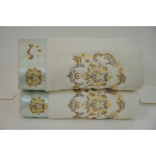 Terry cloth embroidery and elegant silk embroidery