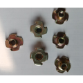 Colour Zinc Plating 4 claw Locking Tee Nuts