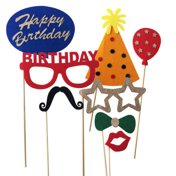 Happy birthday Photo Booth Props Kit