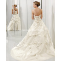 Princess Ball Gown Sweetheart Cathedral Train Taffeta Beading Embroidery Wedding Dress