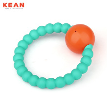 Hot selling attractive for Silicone Teething Bracelet BPA Free Silicone Baby Toy Rattle Teether export to United States Factories