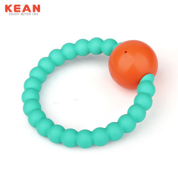 BPA Free Silicone Baby Toy Rattle Teether