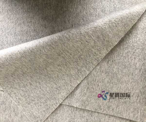 Smoky Gray Wool Cashmere Blend Fabric
