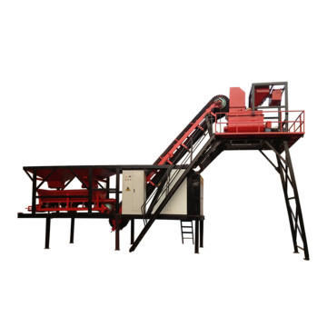 YHZS75 mobile concrete batching plant in Myanmar price