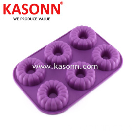 6 Cavity Medium Silicone Donut Donut Molds Pan