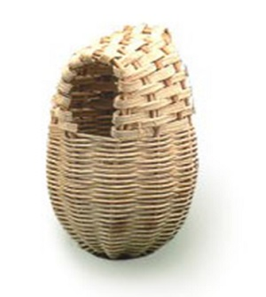 Long Egg Shaped Rattan Bird Nest