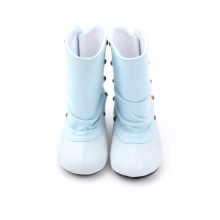 Kids Winter Leather White Baby Boots