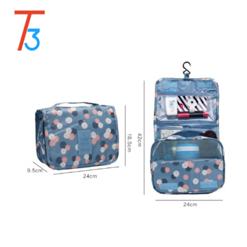 Promotion fashion travel cosmetic organizer wholesale hanging makeup bag