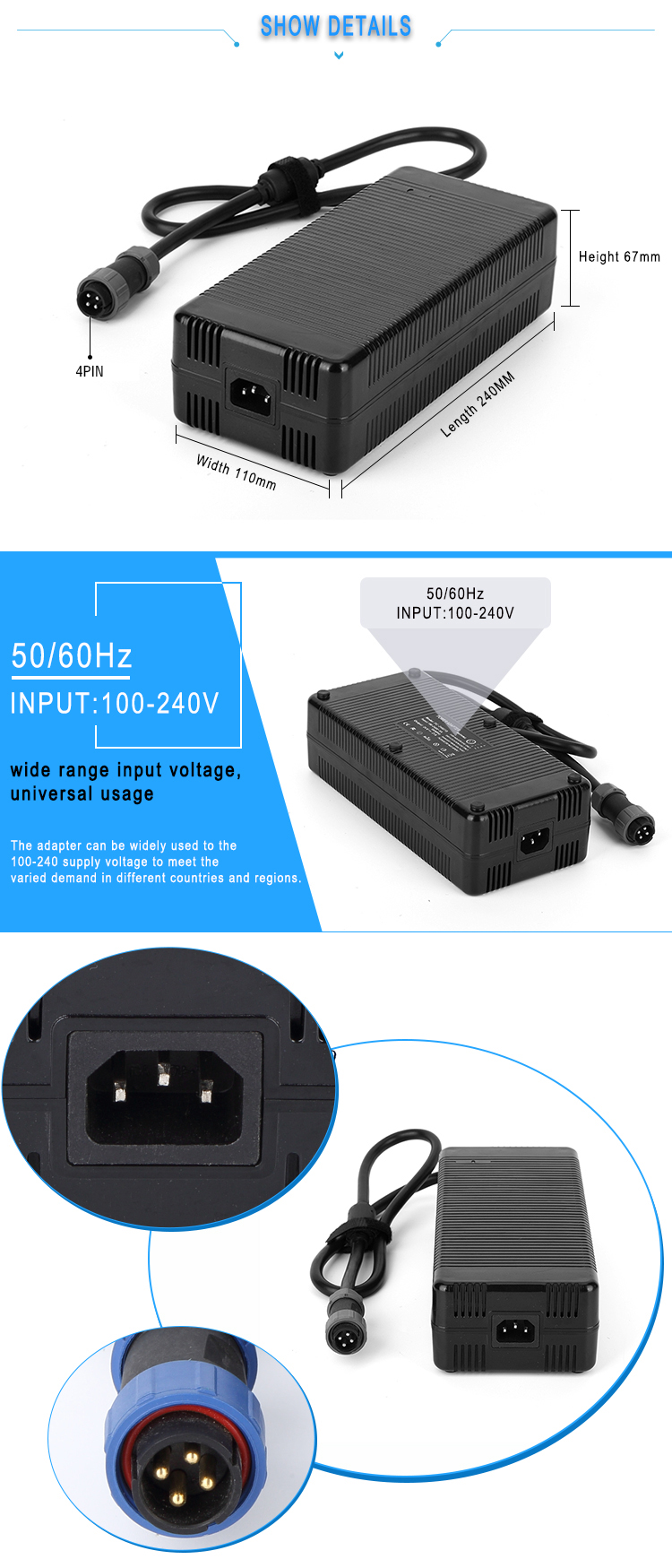 12v 30amp 360w led strip switching power supply
