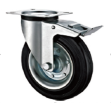 200mm Europran industrial rubber swivel caster with brake