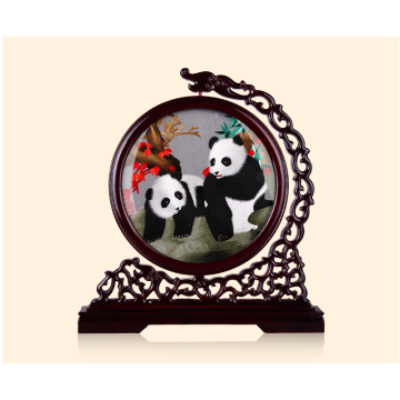 Hand Embroidered Artwork  Panda