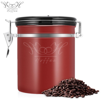 Vacuum Coffee Canister with co2 Valve Container Airtight