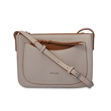 Vintage Handbags Zipper Purse Female Beige Crossbody Bag