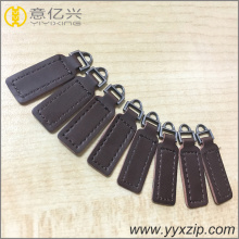 New design genuine leather custom zipper puller