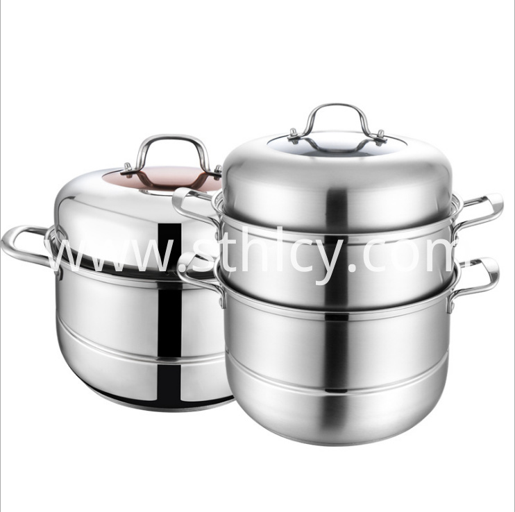 Stainless Steel Steamer Pot3