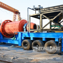 75 kw Iron Ore Mobile Ball Mill
