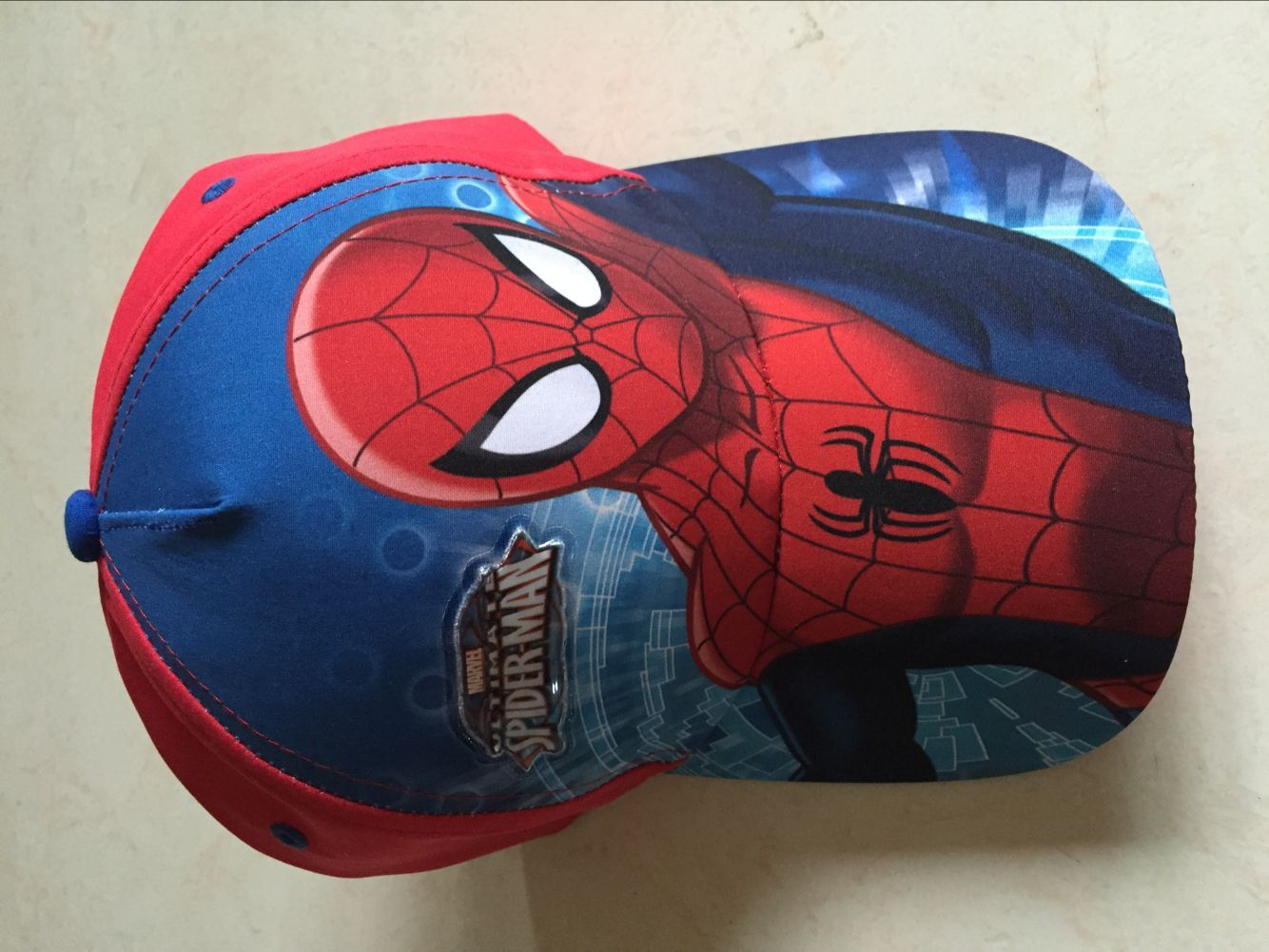 Sublimation Polyester Spiderman Baseball Cap 2