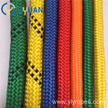 Double braid arborist rope for outdoor
