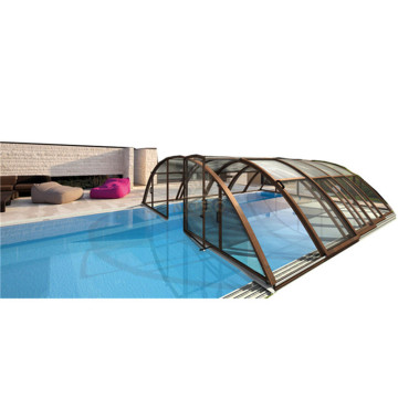 Swimming Fabric Retractable Pool Cover For Inground Pool