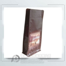 Brown Ziplock Coffee Packaging Pouches