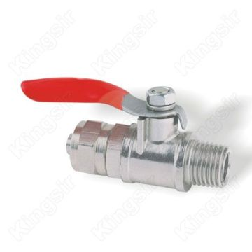 Brass Mini Gas Ball Valves Nickel Plated