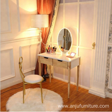 White Intelligence mirror ins popular  Dresser with chair