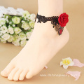 Gothic Style Foot Jewelry Red Rose Footware Anklet Bracelet