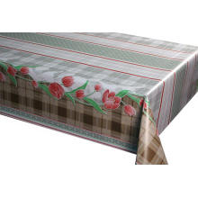 Lattice symmetrical flowers tablecloths