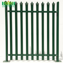 Europe style for High Quality Palisade steel fence Easily Assembled W section Palisade Fence with Decoration supply to Liberia Manufacturer