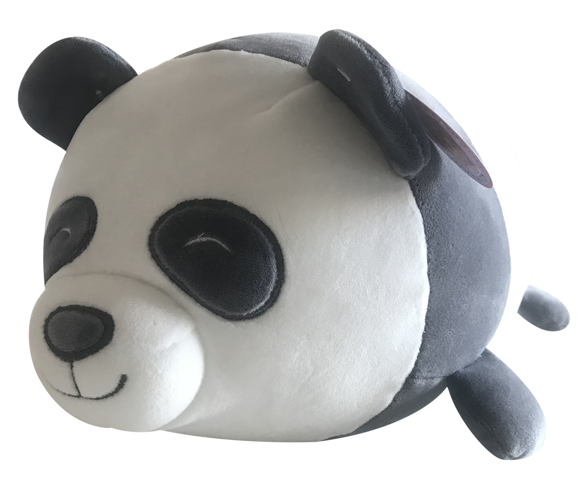 Plush Cuddling Panda Pillow