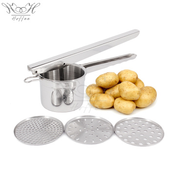 Stainless Steel Potato Masher with 3 Discs