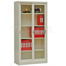 Sliding glass door office file cabinet cupboard