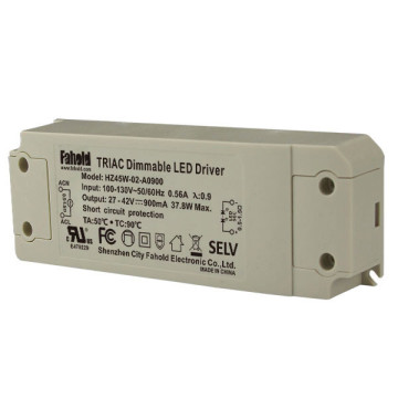 45W 100-130V power supply 900mA led driver