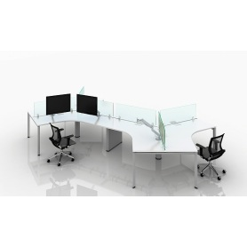 Modern office partition table desk