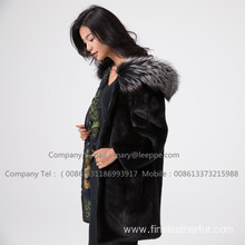 Hooded Lady Kopenhagen Reversible Mink Fur  Coat