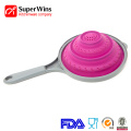 Collapsible Silicone Colander Kitchen Food Foldable Strainer