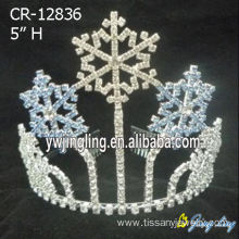 Professional for Snowflake Round Crowns 5 Inch Rhinestone Snowflake Crowns export to Tonga Factory