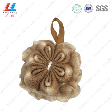 Crafted foam mesh flower sponge ball