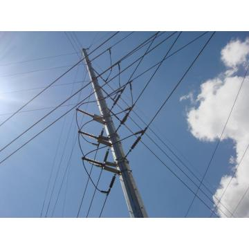 66kV Galvanized Steel Power Pole