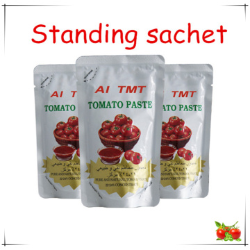 pouch Al Mudhish tomato paste of 100% purity