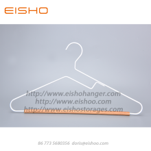 EISHO White Adult Wood Metal Coat Hanger