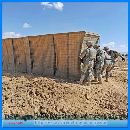 military wall barrier for army fight a flood