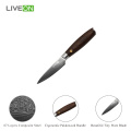 Wooden Handle Damascus Paring Knife
