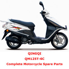 QINGQI QM125T-6C Complete Motorcycle Spare Parts