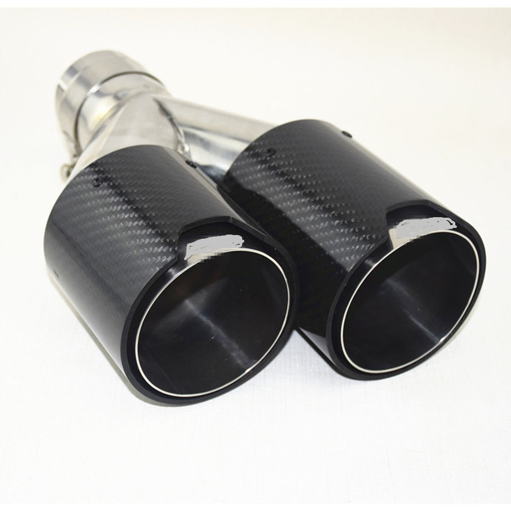 Dual Outlet Carbon Fiber Exhaust Tip