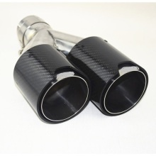 Top for Carbon Fiber Tail Pipe,Carbon Fiber Tail Pipes,Blue Chromed Tail Pipe Manufacturers and Suppliers in China Car Glossy Carbon Fiber Exhaust Tip supply to Egypt Wholesale